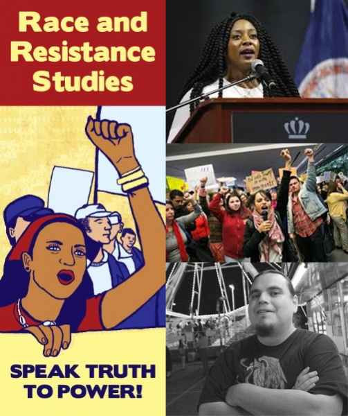 Race and Resistance Studies Logo and professors
